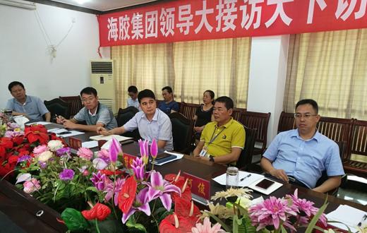 海胶集团在儋州片区集中开展大下访、大接访活动